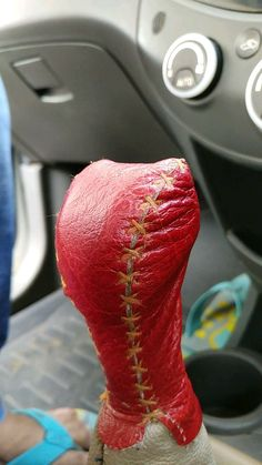 Gear stick leather work