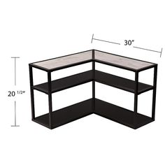 Southern Enterprises Doverlane Wrap Around Table in Black with White Faux Marble Top Corner Storage, Table Storage, Living Room Bookcase, Living Room Furniture, Cheap Couch, End Tables, Coffee Tables, Wood Dust, High Quality Furniture