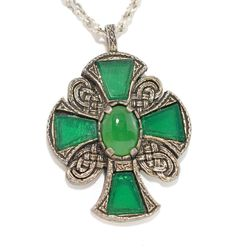Miracle Britain Maltese Cross Necklace Large Pendant Jade Green Glass LOT 8013 | eBay Maltese Cross, Crosses, Jade, Jewelry Box, Cufflinks, Jewelry Design, Brooch, Pendant Necklace, Glass