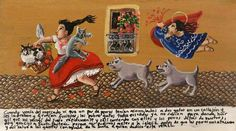 Retablos — When I was coming back from the market I saw two...