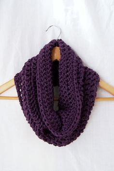 Hey, I found this really awesome Etsy listing at http://www.etsy.com/listing/114011684/plum-purple-crochet-cowl-infinity-scarf