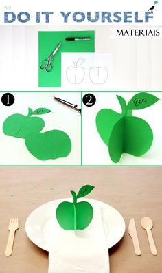 Placement de maçã/ apple placement card