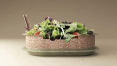 Design studio Forest and Whale has created Reuse, a container for takeaways made from packaging that can be eaten or composted once the food is finished. Reuse Containers, Edible Food, Slice Of Bread, Greens Recipe, Salad Ingredients, Food Waste, Food Design, Compost, Biodegradable Products