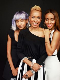 Beauty through the generations! Jada Pinkett-Smith is glowing on the new cover of Redbook Magazine. The beautiful wife and mother poses in the June 2013 issue alongside her mother, Adrienne Banfield-Jones, and daughter, Willow Smith. Jada Pinkett Smith, Willow Smith, My Black Is Beautiful, Beautiful People, Beautiful Women, Simply Beautiful, Tilda Swinton, Maria Callas, Jaden Smith