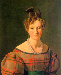 Portrait of Caroline Sophie Moller by Constantin Hansen 1804 - 1880.