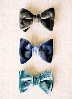 Whimsical Wedding Details We Adore. ummm love velvet bow ties, especially for fall! Velvet Bow Tie, Velvet Hair, Blue Velvet, Something Blue Wedding, Whimsical Wedding, Groom Style, Groom And Groomsmen, Wedding Details, Wedding Day