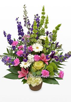 colorful funeral flowers - Google Search