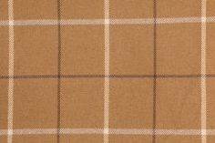2.5 Yards Woven Plaid Upholstery Fabric in Toffee