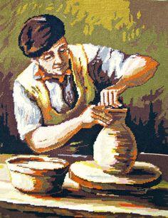 tapestry needlepoint potter craftsmanship, french needlepoint wall tapestry