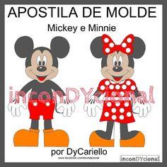 >> Apostila digital com o Mickey e a Minnie [Conforme imagem], para ser feito em feltro/tecido.  >> Sem PAP [passo a passo]. Apenas o molde.  >> Em 2D.  No tamanho de aproximadamente 30cm.  >> A apostila tem 888kb, formato PDF, 8 páginas.  https://www.facebook.com/inconDYcional/photos/a.811942578856722.1073741827.187805041270482/1023632004354444/?type=3&theater