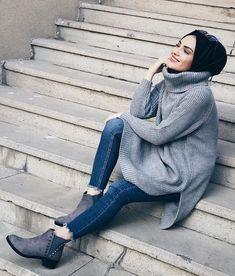 Oversized sweatshirts hijabi styling ideas – Just Trendy Girls