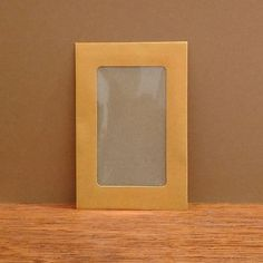 Midori - Kraft Envelope - Set of 4 - Orange - Window from Bookbinders Online
