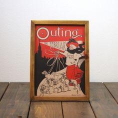 ビンテージ ポスター A4サイズ(複製) - 1896 OUTING 2月号-