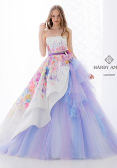 HARDY AMIES dress wedding blue purple ハーディエイミス プアラベンダー ブルー ラベンダー clc231-3.jpg (494×707)