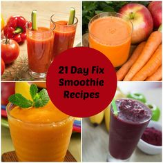 Here is how to make smoothies for the 21 Day Fix diet with container amounts for various ingredients and ten modified 21 day fix smoothie recipes from the site with container sizes.