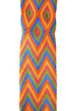 Tiranta o Fajón Wayúu Crochet Tote, Crochet Handbags, Crochet Purses, Knit Crochet, Inkle Loom, Loom Weaving, Tablet Weaving, Macrame Hanging Planter, Hippie Bags