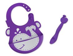 Super cute animal dishes, placemats, and bibs for babies and toddlers from Marcus & Marcus