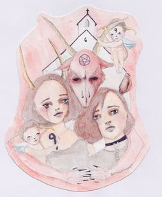 """""""25¢ for prayers"""", Nicole Dollanganger, watercolor, 2014"""