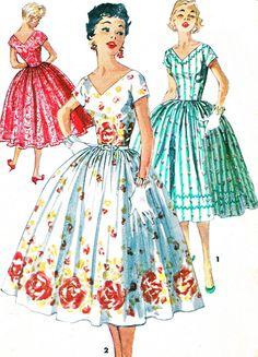 1950s Dress Pattern Simplicity 1159 Full Skirt by paneenjerez, $16.00