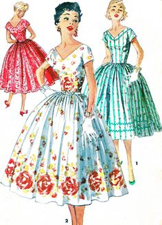 1950s Dress Pattern Simplicity 1159 Full Skirt by paneenjerez, $16.00