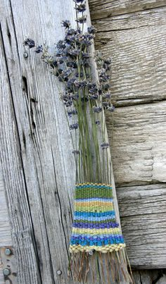 I've been fascinated by weaving lately. The other day I came across a picture where fiber had been woven into stems of lavender. I kept going back to this picture, and I felt the need to give thi...