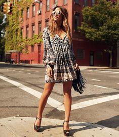 """""""Still feelin' like summer... ✌️Easy breezy dress via @augustethelabel photo by @nickonken #rockybarnes #boholuxe #ootd tap for details..."""""""
