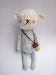 Hiro :: The sleeping bunny amigurumi Cute Crochet, Crochet Crafts, Crochet Dolls, Crochet Projects, Pet Toys, Doll Toys, Kids Toys, Sleeping Bunny, Bear Doll