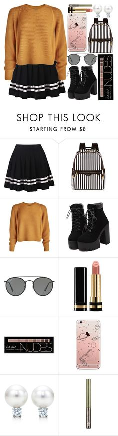 """With the new day, comes new strength and new thoughts."" by fangirl-preferences ❤ liked on Polyvore featuring Henri Bendel, Ray-Ban, Gucci, Charlotte Russe and Urban Decay"