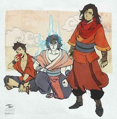 Wan, Raava, and Vaatu, from The Legend of Korra: An Avatar's Chronicle. Avatar Wan, The Last Avatar, Korra Avatar, Avatar The Last Airbender Art, Team Avatar, Alita Battle Angel Manga, Avatar World, Avatar Series, Korrasami