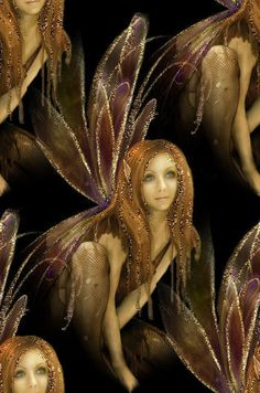 fairy in gold