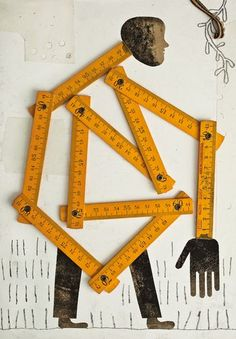 Found object assemblage ~ Isidro Ferrer. Art And Illustration, Illustrations, Collages, Art Du Collage, Found Object Art, Photocollage, Assemblage Art, Art Graphique, Grafik Design