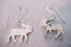 a & f moose earrings <3