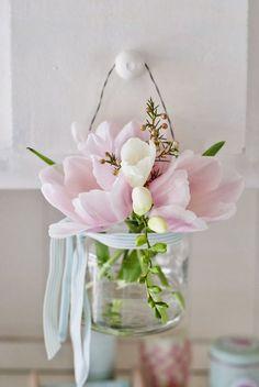 Floral Arrangement ~ hanging sweet flowers!