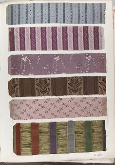 French 19th century Textile Sample Book, Joseph Corcelette