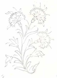 Flowers Tattoo Hand Embroidery Patterns 26 New Ideas Floral Embroidery Patterns, Crewel Embroidery, Flower Patterns, Embroidery Designs, Flower Tattoo Hand, Tattoo Flowers, Diy Broderie, Turkish Art, Stencil Designs