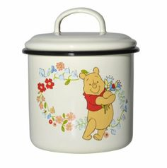 Disney Muurla 1 Litre/ 12 cm Winnie The Pooh Enamel Canister Winnie The Pooh Mug, Winne The Pooh, Pooh Bear, Enamel Cookware, Canisters, Disney, Baby Items, Arts And Crafts, Mugs