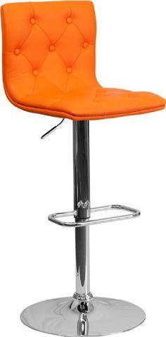 Flash Furniture 2-Pack Contemporary Tufted Vinyl Adjustable Height Bar Stool with Chrome Base, Orange Flash Furniture http://www.amazon.com/dp/B00FEAML6M/ref=cm_sw_r_pi_dp_Z.V1tb1BSKY3G17N