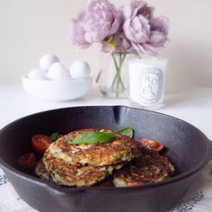 Low carb courgette, mint and goats cheese fritters. The Vegetarian Atkins Diary