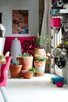 pots and pink paint job
