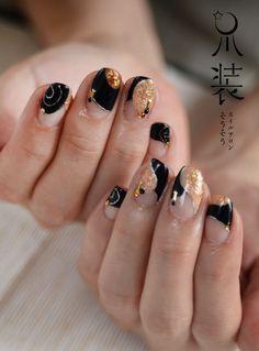 黒×コッパー=和の画像   nail salon sou-sou