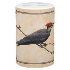 Pileated Woodpecker Tan Bath Set