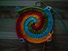 Spiral multi-color crochet.