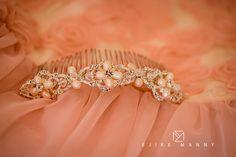 Wedding details bride hair pin