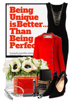 """""""Being Unique Is Better Than Being Perfect"""" by queenrachietemplateaddict ❤ liked on Polyvore featuring James Perse, Aquilano.Rimondi, The French Bee, Charlotte Olympia, Yves Saint Laurent, Trish McEvoy, Christian Louboutin and Lane Bryant"""