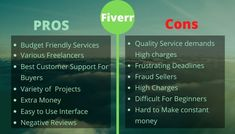 We bring you to pros & cons about fiverr freelancing platform. #fiverr #freelance #private #projects #prosandcons #freelancingfemales #beginners #startup #career #businessplatform #earnit #freelancingtips #tools #worldwide #web #internetmarketing #tool #instagood #customerservice#trending #instapost #earning #digitalmarketingtools #business #affiliatemarketing #affiliate #advertising #instapost Website Services, Service Quality, Insta Posts, Extra Money, Internet Marketing, Affiliate Marketing, Budgeting, How To Make Money, Career