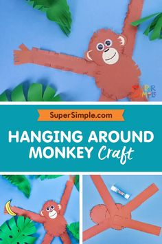 Make a super cute monkey craft for your classroom!
