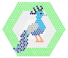 Peacock Perler Bead Pattern.  Website has alot of patterns!