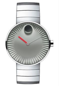 "Movado​ Edge Watches Designed By Yves Béhar​ - See more about it & the other designs - on aBlogtoWatch.com ""This is a Museum Dial timepiece for the Apple Watch generation, complete with modern curves mixed with nuances from nature. In static pictures, the concave dial looks like an aerial view of Saharan sand dunes or perhaps some view of an industrial turbine. In actuality, the three-dimensional dial was designed for a very specific purpose..."""