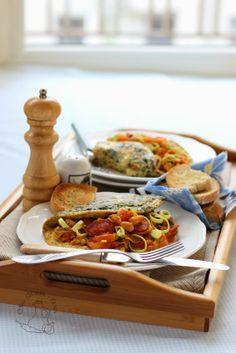 Chorizo Bean Tortilla - the breakfast for Two