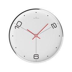 Chrome Wall Clock // W303S14W By Oliver Hemming